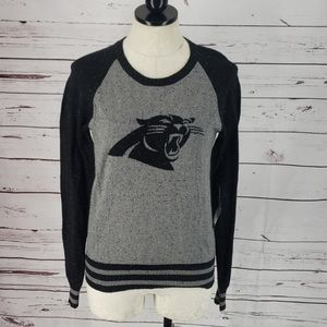 NFL Panthers 47 Brands Black & Gray Small Sweater